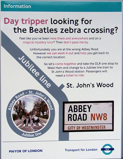 Abbey Road DLR sign