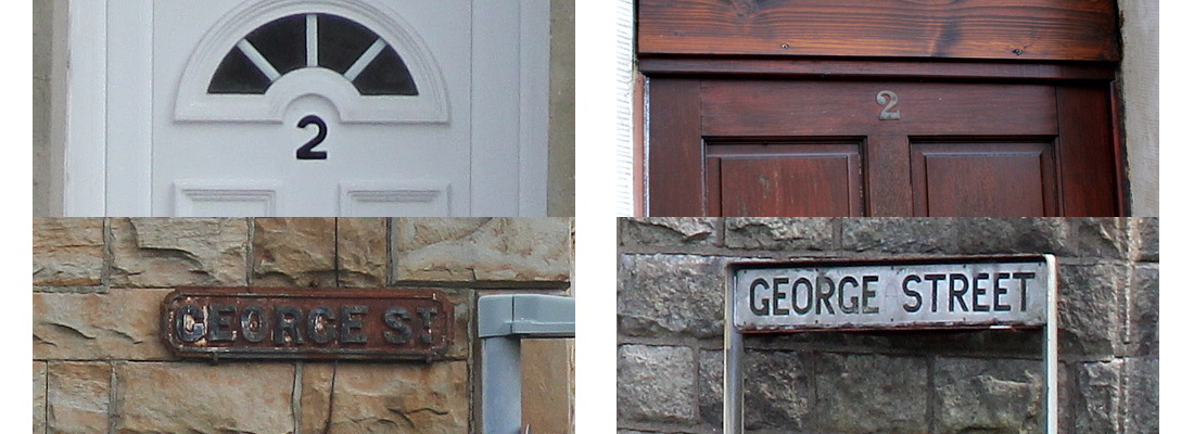 Numbers and street signs