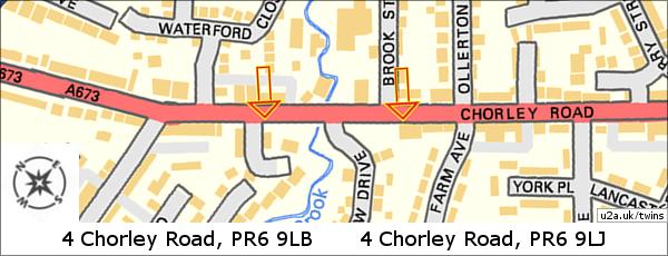 Map of Chorley Road