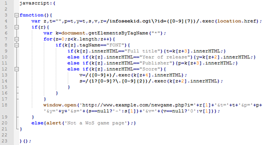 Image of the code